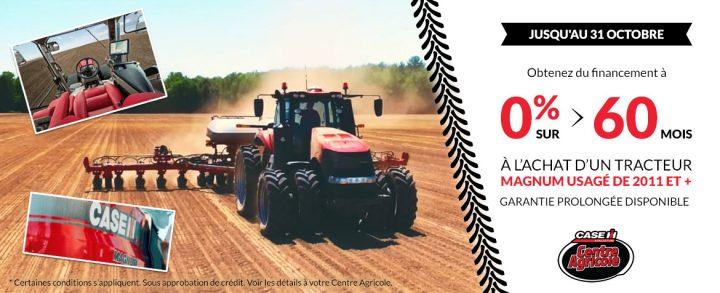 Financement à 0% d'intérêt sur les tracteurs Magnum usagés
